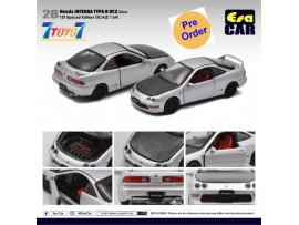 [Pre-order deposit] Era Car 1/64 28 Honda Integra Type-R DC2_ Silver (1st Special Edition) Die-cast Model Car _ER022C