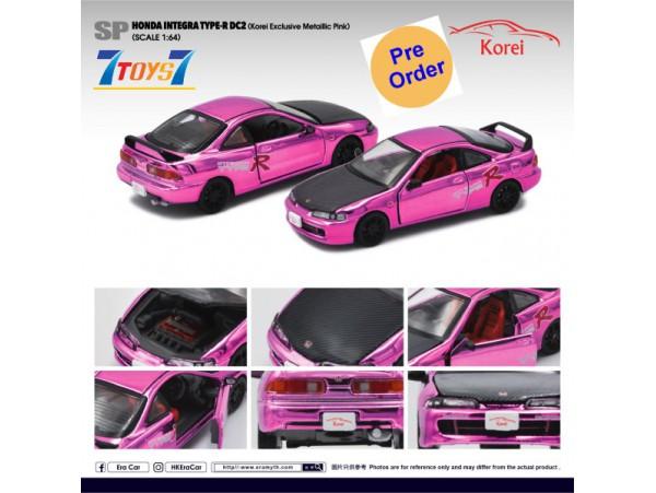 [Pre-order deposit] Era Car 1/64 HONDA Integra Type-R DC2 (Korei Exclusive Metallic Pink)_ Diecast Model Car _ER016E
