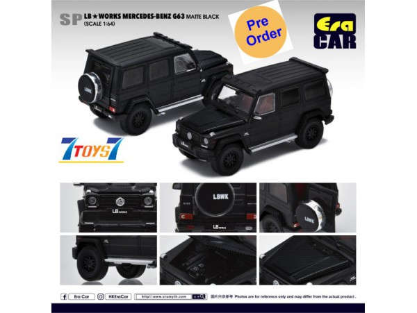 [Pre-order deposit] Era Car 1/64 LB Works Mercedes-Benz - G63 - Matte Black_ Diecast Model Car _ER017A