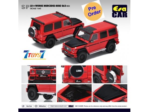 [Pre-order deposit] Era Car 1/64 LB Works Mercedes-Benz - G63 - Red_ Diecast Model Car _ER017B