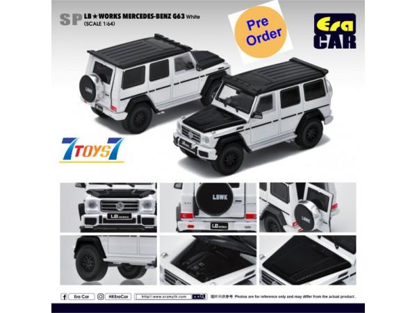 [Pre-order deposit] Era Car 1/64 LB Works Mercedes-Benz - G63 - White_ Diecast Model Car _ER017C