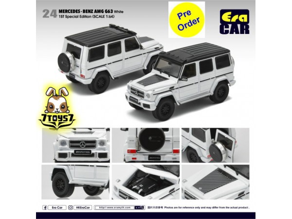 [Pre-order deposit] Era Car 1/64 24 Mercedes-Benz AMG G63 1st Special Edition_ White Die-cast Model Car _ER014B
