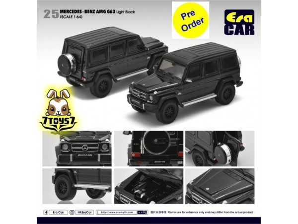 [Pre-order deposit] Era Car 1/64 24 Mercedes-Benz AMG G63_ Light Black Die-cast Model Car _ER014C