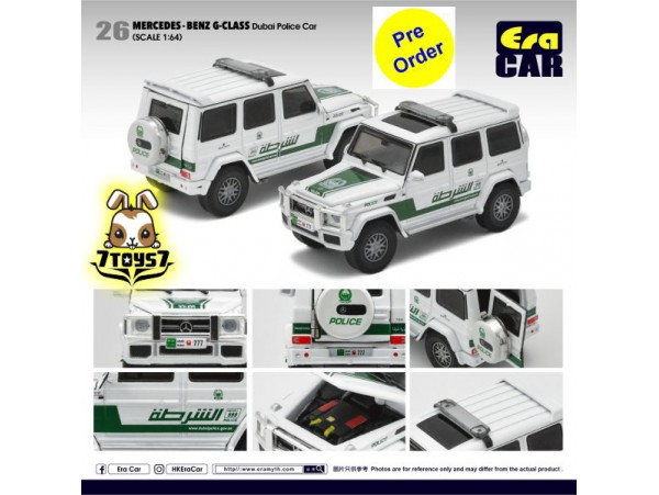 [Pre-order deposit] Era Car 1/64 24 Mercedes-Benz G-Class_ Dubai Police Car Die-cast Model Car _ER015B
