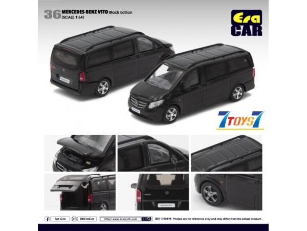 Era Car 1/64 Mercedes-Benz Vito_ Black Die-cast Model Car _ER019A