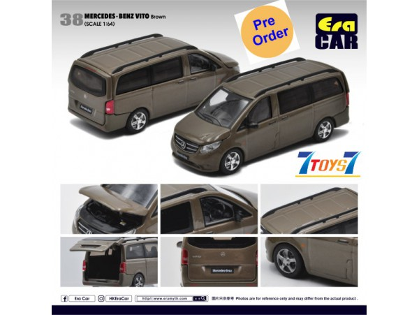 [Pre-order deposit] Era Car 1/64 Mercedes-Benz Vito_ Brown Die-cast Model Car _ER019B