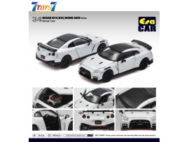 Era Car 1/64 34 Nissan GT-R(R35) Nismo 2020 White_ Die-cast Model Car _ER021F