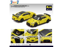 Era Car 1/64 34 Nissan GT-R(R35) Nismo 2020 Yellow 1ST Special Edition_ Die-cast Model Car _ER021G