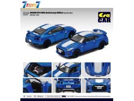 Era Car 1/64 SP Nissan GT-R 50th Anniversary Edition_ Bayside Blue Die-cast Model Car _ER021A