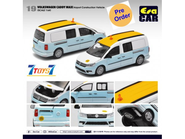 [Pre-order deposit] Era Car 1/64 39 Volkswagen Caddy Maxi_ Airport Construction Vehicle Die-cast Model Car _ER023A