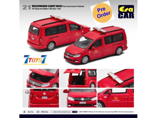 [Pre-order deposit] Era Car 1/64 39 Volkswagen Caddy Maxi_ Fire Command Vehicle 1st SP Ed Die-cast Model Car _ER023B