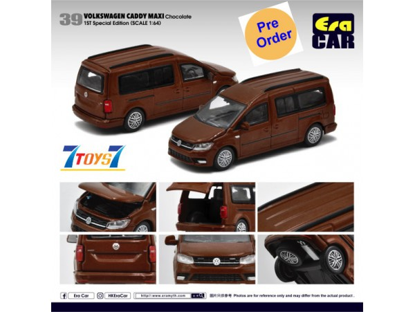 [Pre-order deposit] Era Car 1/64 39 Volkswagen Caddy Maxi_ Chocolate 1st SP Edition Die-cast Model Car _ER023D