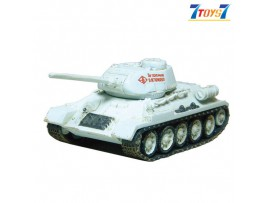 F-Toys 1/144 Battle Tank V1 #1B_ T-34/85 _1945 Russia Winter WWII FT008B
