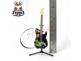 F-Toys 1/12 Guitar MONO + Stand + strap #1C _Stratype Camofura Form FT048C