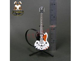 F-Toys 1/12 Guitar MONO + Stand + strap #2C _Solid guitar type Cat form FT048F