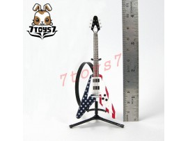 F-Toys 1/12 Guitar MONO + Stand + strap #3C _V shape type American form FT048I