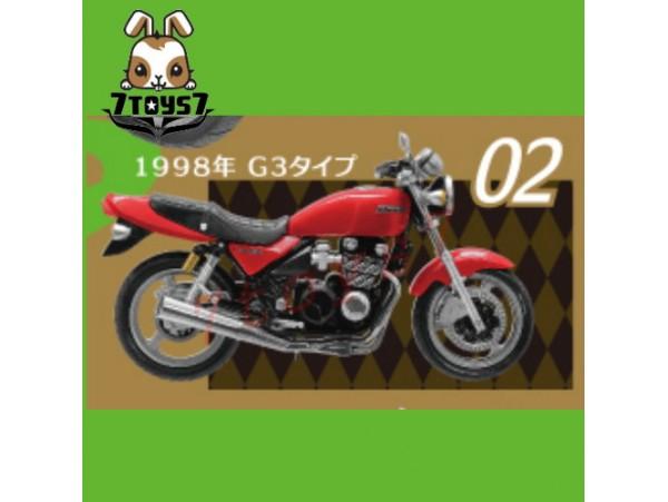 F-toys 1/24 Vintage Bike Kit Vol. 3_ #2 :Kawasaki Zephyr 1998 G3 _Now FT050B