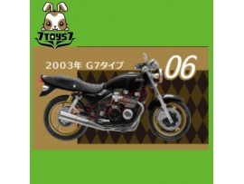 F-toys 1/24 Vintage Bike Kit Vol. 3_ #6 :Kawasaki Zephyr 2003 G7 _Now FT050F