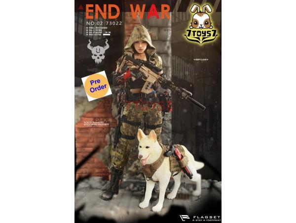 """[Pre-order] Flagset 1/6 73022 Doomsday War - End War Death Squad """"U"""" Umir + Dog Suit_ Box Set _ZZ084I"""