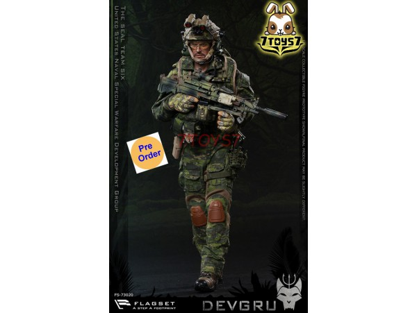 [Pre-order deposit] Flagset 1/6 73020 US Seals 6 Team DEVGRU Jungle Dagger_ Box Set _ZZ084G