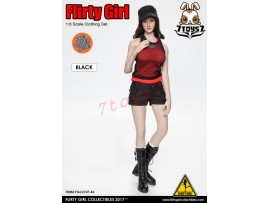 [Pre-order] Flirty Girl 1/6 Combat Short Fashion Clothing_ Black Set _FG031B