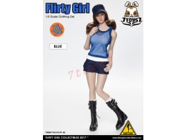 [Pre-order] Flirty Girl 1/6 Combat Short Fashion Clothing_ Blue Set _FG031A