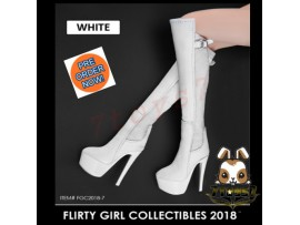 [Pre-order] Flirty Girl 1/6 FGC2018-7 Female High Heel_ White Boots _FG034D