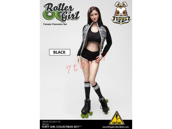 Flirty Girl 1/6 Roller Girl Character_ Black Set w/ Head _Now FG030C
