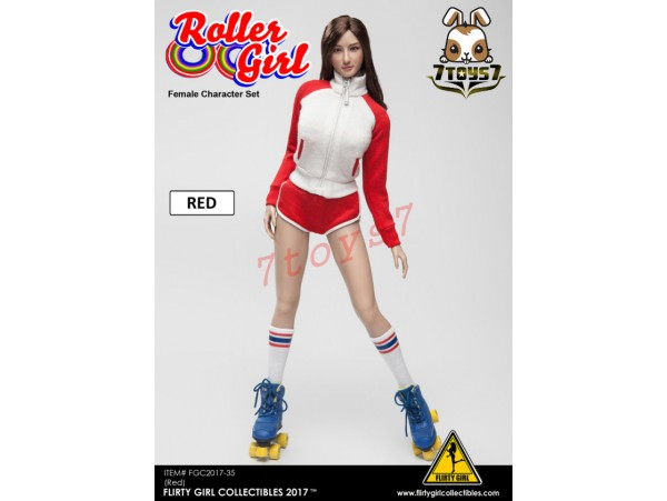 Flirty Girl 1/6 Roller Girl Character_ Red Set w/ Head _Now FG030A