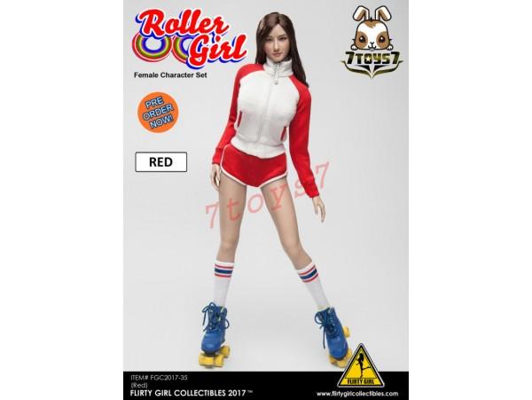 [Pre-order] Flirty Girl 1/6 Roller Girl Character_ Red Set _FG030A