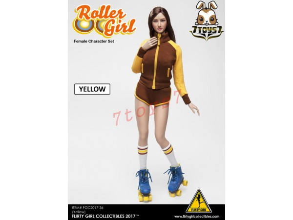 Flirty Girl 1/6 Roller Girl Character_ Yellow Set _Now FG030B