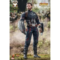 Hot Toys 1/6 MMS 481 Captain America Infinity War_ Movie Promo Edition Box Set _HT372V