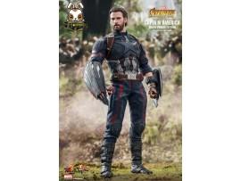 Hot Toys 1/6 MMS 481 Captain America Infinity War_ Movie Promo Edition Box Set _HT372V