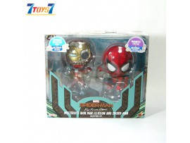 "Hot Toys Cosbaby 4"" Mysterio's Ironman Illusion & Spiderman_ Set _Luminous reflective Magnetic HT477C"