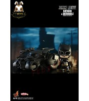 "Hot Toys Cosbaby 4"" Justice League: Batman & Batmobile_ Box Set _Now HT362A"