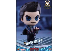 "Hot Toys Cosbaby 3.5"" Bobble-Head - Civil War: Hawkeye_ Box Set _Now HT290F"