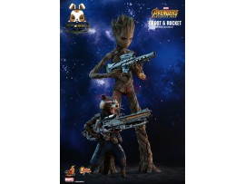 Hot Toys 1/6 MMS476 Avengers: Infinity War - Groot & Rocket_ Box Set _Now HT396Z