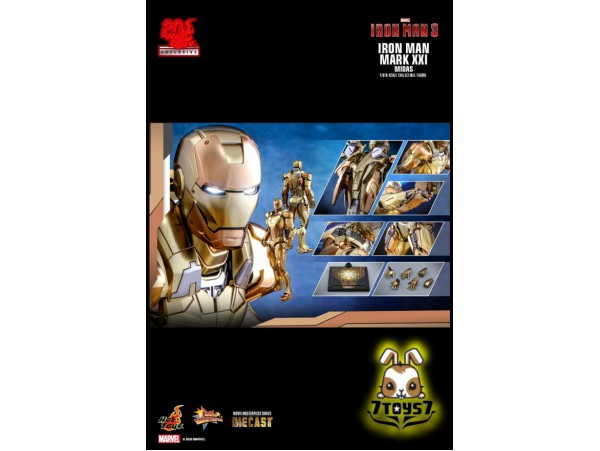 Hot toys 1/6 MMS586-D36 Iron Man Mark XXI Midas_ Diecast Box Set _HT483Z