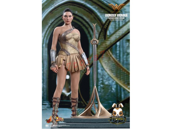 Hot Toys 1/6 MMS424 Wonder Woman – Training Armor Version_ Box Set _DC Now HT382Z