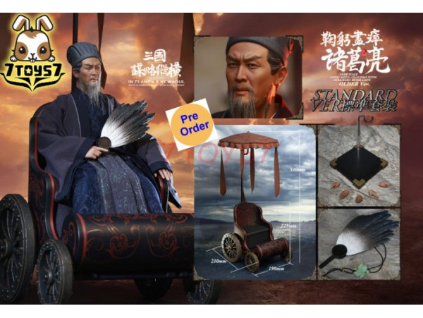 [Pre-order] Inflames 1/6 IFT-042 Soul Of There Kingdoms Stratagems - Zhuge Liang (Older)_ Box Set w/ Wagon _Romances of the Three Kingdoms IF026Z