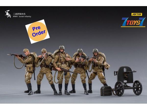 [Pre-order deposit] Joy Toy 1/18 WWII Soviet Infantry_ Set _JO061B