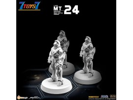 Kidslogic 1/285 MT24 Robotech Macross Zentraedi Heavy Battle Armor (Set of 3)_ Miniature _KL018F