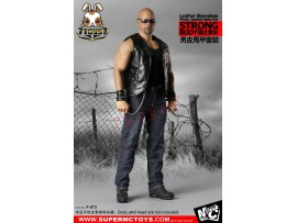 Super MC Toys 1/6 F-073 Leather Sleeveless Moto Jacket_ Costume Sets _for strong body Magic Cube ZZ105I