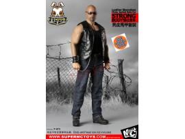 [Pre-order] Super MC Toys 1/6 F-073 Leather Sleeveless Moto Jacket_ Costume Sets _for strong body Magic Cube ZZ105I