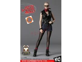 [Pre-order] Super MC Toys 1/6 F-074 Leather Sleeveless Moto Jacket_ Female Costume Sets _Magic Cube ZZ105J