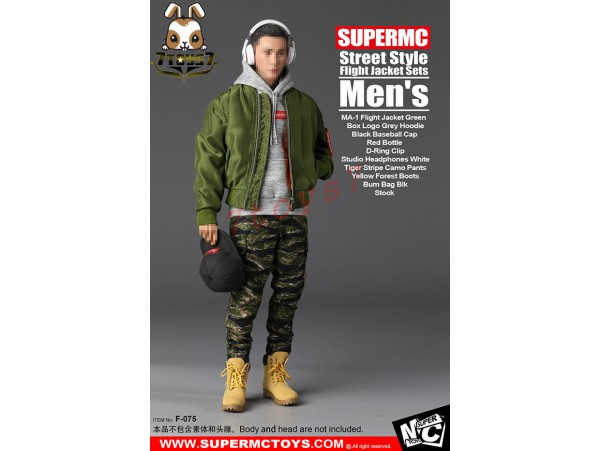 Super MC Toys 1/6 F-075 Street Style Flight Jacket Sets_ Men Set _Magic Cube ZZ105K