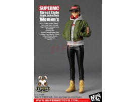 Super MC Toys 1/6 F-076 Street Style Flight Jacket Sets_ Women Set _Magic Cube ZZ105L