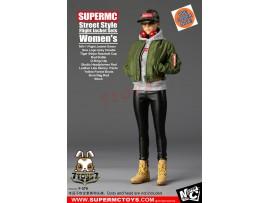 [Pre-order] Super MC Toys 1/6 F-076 Street Style Flight Jacket Sets_ Women Set _Magic Cube ZZ105L