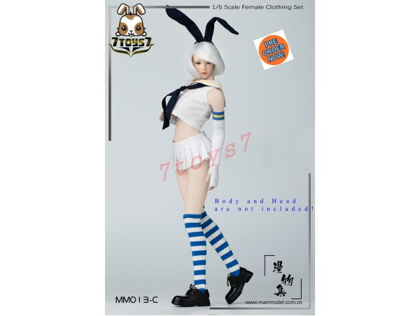 [Pre-order] Manmodel 1/6 MM013C Two-dimensional sailor suit rabbit ear suit_ Set C _MM004C