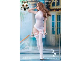 Manmodel 1/6 MM015A High split translucent cheongsam dress suit_ White Set _MM006A